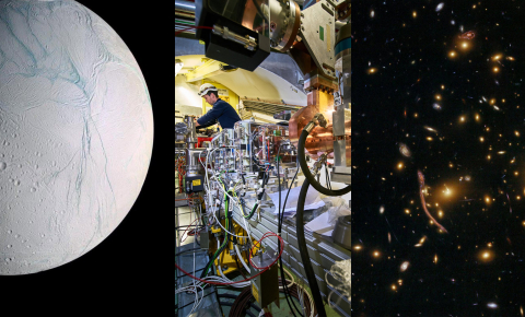We asked a selection of European scientists which scientific breakthroughs they'd like to see in 2019. Image credits from left to right: NASA, CERN, NASA