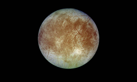 Europa, one of Jupiter's large moons, is considered to be the best candidate for habitability because scientists think its sub-surface ocean is in contact with rock, meaning minerals can leach into the ocean and enrich it. Image credit - NASA/JPL