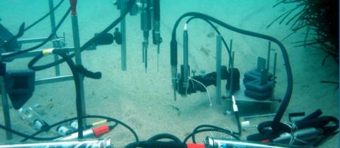 State-of-the-art sensors measure the amount of CO2 leaked from the ocean floor in the Mediterranean Sea, and similar ones are being used in the North Sea. Image credit: M.Weber/HYDRA