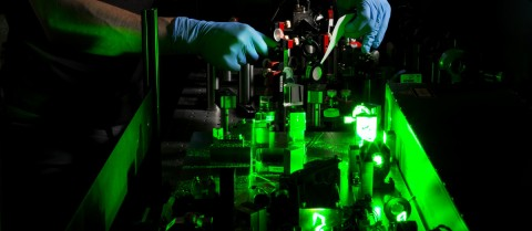 Using lasers to measure energy fluctuations of Thorium-229 nuclei could pave the way for hyper-accurate nuclear clocks. Image credit: nuClock