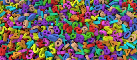 The most common type of synaesthesia is where people see numbers or letters in a particular colour. Credit: Shutterstock/ Mr. High Sky