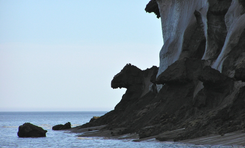 Muostakh Island is part of the East Siberian Arctic Shelf which is the most vulnerable part of the Arctic coastline when it comes to permafrost thaw. Image credit - Prof. Igor Semiletov.