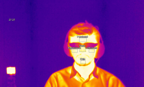 Infrared glasses would give firefighters heightened visual perception to locate people trapped in a blaze. Image Credit - Amplify project