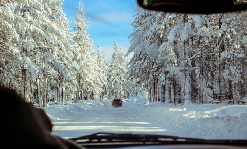 Snow and ice can dramatically change the driving conditions of a road. Image credit - picture is in the public domain