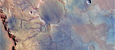 A virtual Mars could help researchers understand more about the planet's valleys and water. Image courtesy of CROSSDRIVE