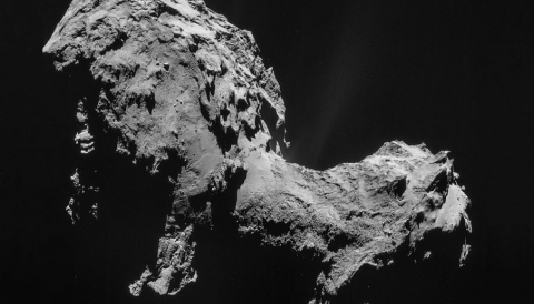 Using data from several instruments onboard Rosetta, CASTRA's team has modeled the properties of cometary dust in the environment of Comet 67P. Image credit - ESA/Rosetta/NAVCAM, CC BY-SA IGO 3.0