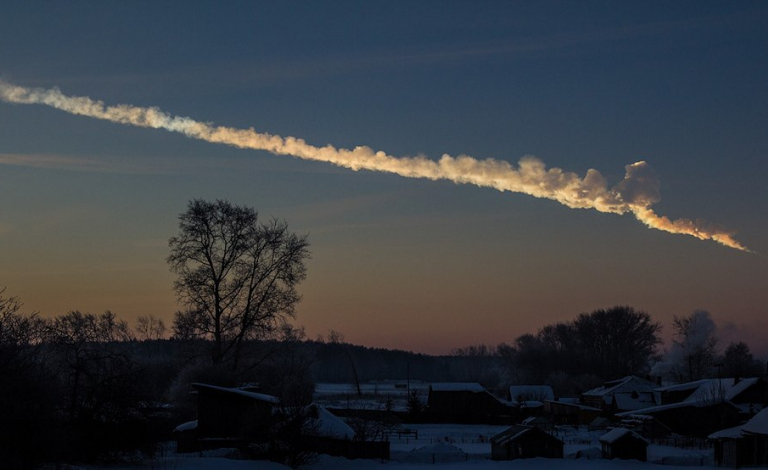 It is not uncommon for asteroids to hit Earth. In 2013, the Chelyabinsk meteor exploded over Russia, injuring hundreds. Image credit - Alex Alishevskikh, licensed under CC BY-SA 2.0