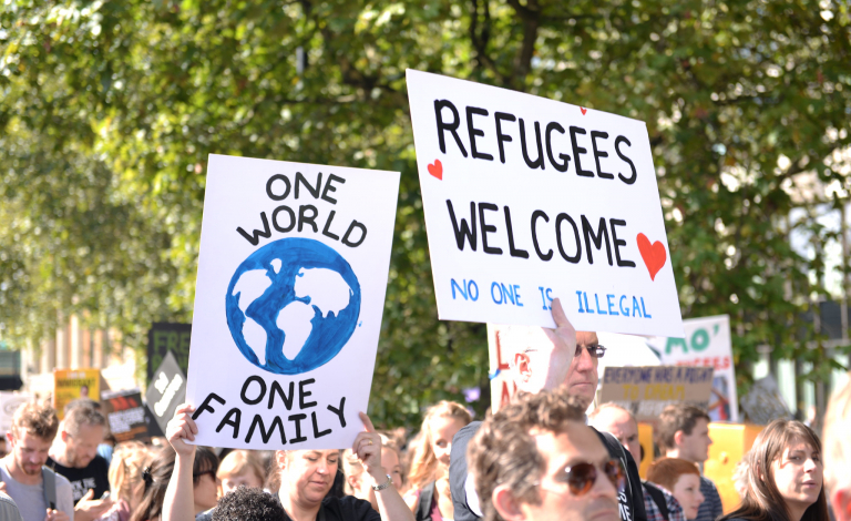 Research and scientific evidence can help inform programmes and policies designed to help refugees build a better future in Europe. Image credit - Flickr/Ilias Bartolini, licensed under CC BY-SA 2.0