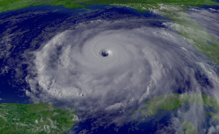 Researchers are developing new climate models to examine how the oceans and atmosphere will change in the future. Image credit - 'Hurricane Rita Peak' licenced by the US's National Oceanic and Atmospheric Administration