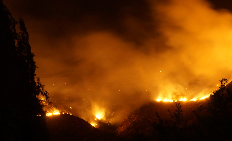 The 2017 Chilean wildfires, along with those in Portugal, were confirmation that the new type of fire was here to stay. Image credit - Pablo Trincado, licensed under CC BY 2.0