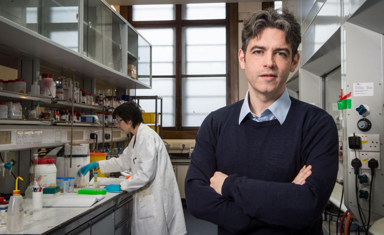 Big companies from around the world have already shown interest in Prof. Lee Cronin's energy-dense liquid battery. Image credit - University of Glasgow