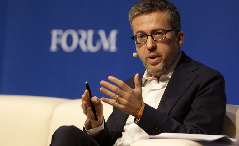 Carlos Moedas, the European Commissioner for Research, Science and Innovation, speaks at the Web Summit in Lisbon on November 6. Image credit - European Commission