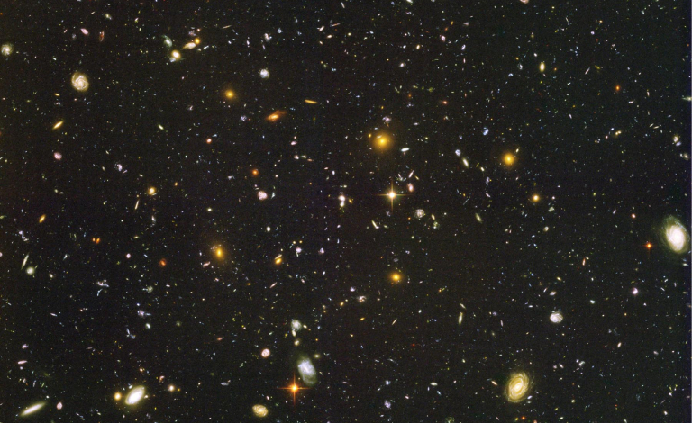 Are these 10 000+ galaxies captured by the NASA/ESA Hubble Space Telescope moving faster everyday? Image credit - NASA/ ESA/ STScI (S. Beckwith)/ HUDF Team