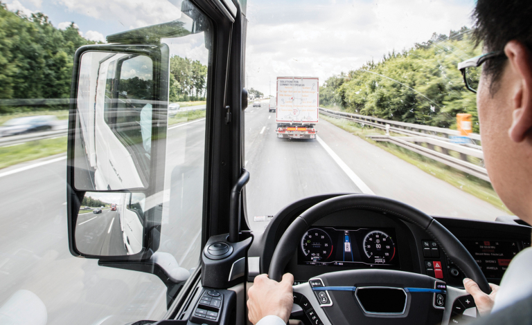 Automated, networked truck convoys could save fuel and cut down on driving time. Image credit - MAN Truck & Bus