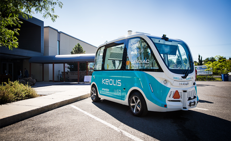 Autonomous vehicles must be well-integrated into public transport systems if they are to take off in Europe's cities, say researchers. Image credit - Keolis
