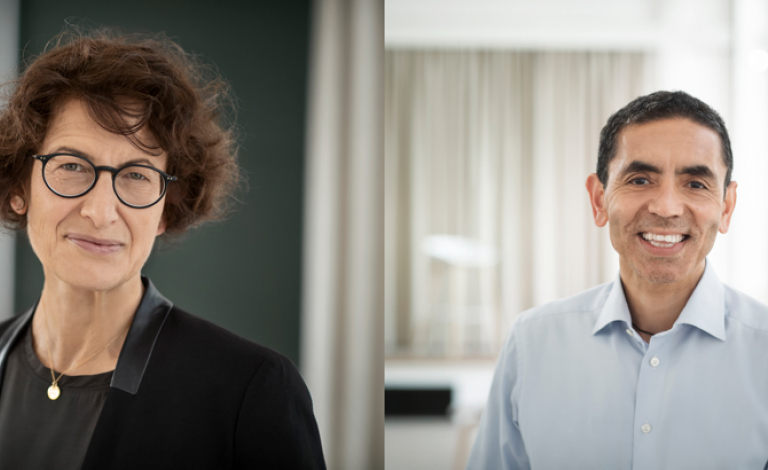 The mRNA vaccine era is just starting, according to Dr Özlem Türeci and Dr Uğur Şahin, the co-founders of Germany's BioNTech. Image credit - BioNTech SE 2020, all rights reserved