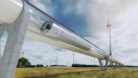The hyperloop is ready for a breakthrough, and Zeleros is one of the concepts in the running. The Spanish start-up has created a unique technology thanks to their approach to their higher-pressure tubes. Artist's impression - Zeleros hyperloop