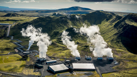 Scientists at Hellisheidi geothermal power plant in Iceland have demonstrated a carbon capture and storage cycle at half the cost of previous estimates. Image Credit: Arni Saeberg, CarbFix