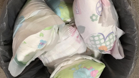 The hardest part about recycling used nappies is opening them. Image credit - Wagga Wagga City Council 2010-2018