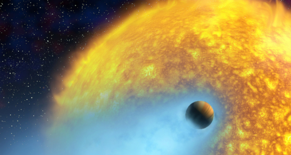 Hot Jupiters are gas giants that orbit their parent stars more closely than Mercury orbits our sun. One such exoplanet, Osiris, orbits its parent star so closely that its atmosphere is continually evaporating. Image credit - NASA/European Space Agency/Alfred Vidal-Madjar (Institut d'Astrophysique de Paris, CNRS)