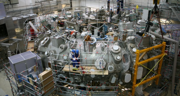The outer casing of the reactor was completed in May 2013. Image courtesy of the Max-Planck-Institute for Particle Physics