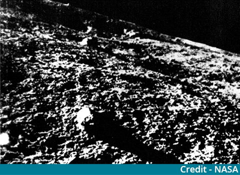 Chinese satellite sends image of moon's captured rear side