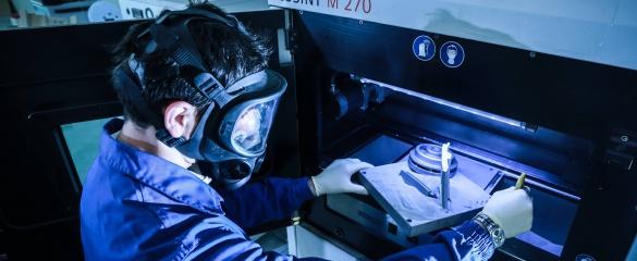 The Avio Aero project, based in Italy, is using 3D technology for aeroplane engines. Image courtesy of Avio Aero