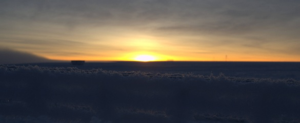 The sun rises over Antarctica. © ESA