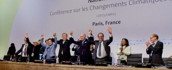 World leaders met in Paris, France, last year at COP21 and agreed to keep global warming under 2 degrees Celsius compared with pre-industrial times. Image credit: U.S. Department of State/ public domain