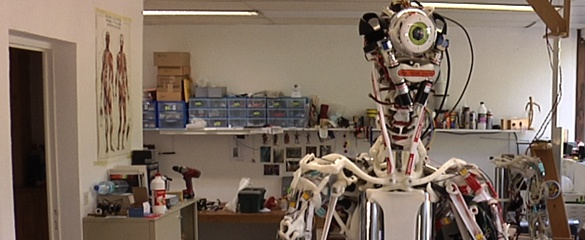 The ECCERobot shown here in the studio in Divonne-les-Bains, France, is based on the human anatomy. Image courtesy of The Robot Studio