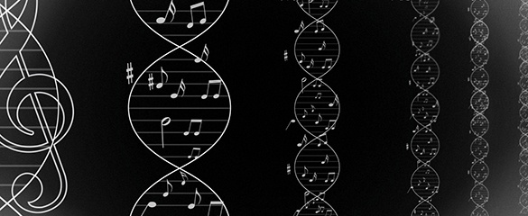 Composer Deirdre Gribbin and scientist Dr Sarah Teichmann's collaboration led to the creation of a musical score based on the patterns in human DNA.
