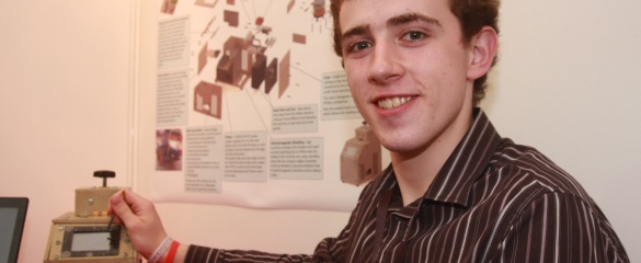 Fred Turner, 18, won first prize for making a polymerase chain reaction (PCR) machine in his bedroom.