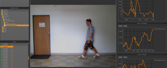 The Kinalisoft software first identifies a person's silhouette and then measures anatomical movement to distinguish the unique way they walk. Picture credit: Kinalisoft