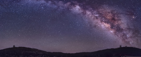 The Milky Way galaxy over the horizon. © Shutterstock/ John A Davis