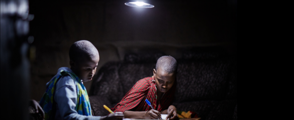 Off-grid technology in Africa can help households access power after sunset. Image courtesy of Off:Grid:Electric