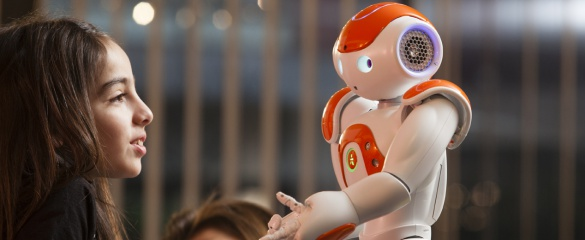 The Nao robot shown here is being developed by Aldebaran Robotics. © Ed Alcock 2013