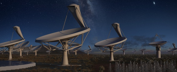Dr Seth Shostak, from the US-based SETI Institute, said the Square Kilometre Array will help because it is faster and more sensitive than current telescopes. Image: SKA