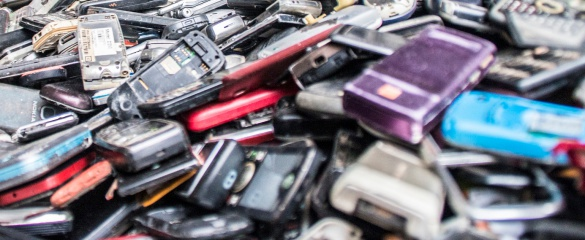 New smartphones on the market encourage old ones to be thrown out, and waste companies are struggling with recycling. Image credit: Flickr/ Fairphone