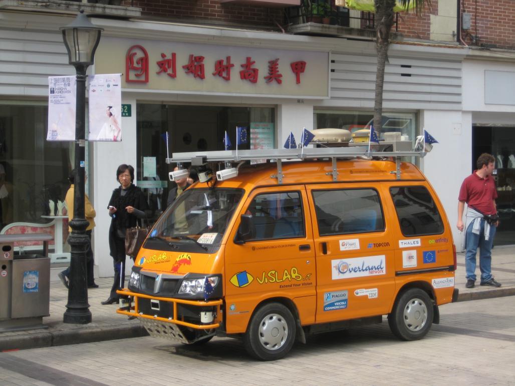 The VisLab vehicle arrives in Shanghai © VisLab