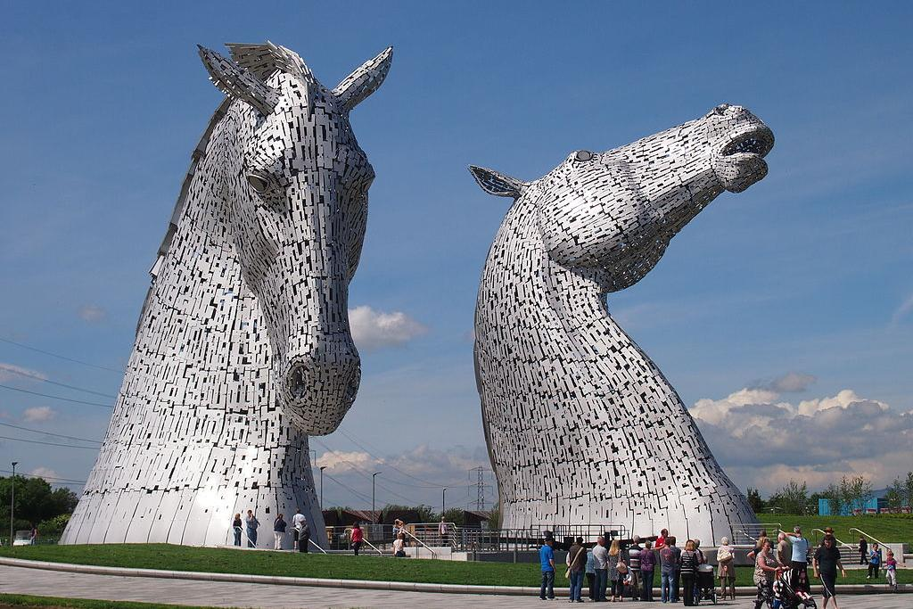 The city of Glasgow, UK, wanted to increase tourism on its canals. The way it did this was by creating a partnership between Glasgow Caledonian University and the Scottish Government, which resulted in the Kelpies, 30-metre-high horse head sculptures placed alongside the canal. The partnership is part of the Glasgow City of Science programme, which is working to promote science in education, creative industries, healthcare and more. Image credit: 'The Kelpies, at The Helix, Scotland' is licensed by Beninjam