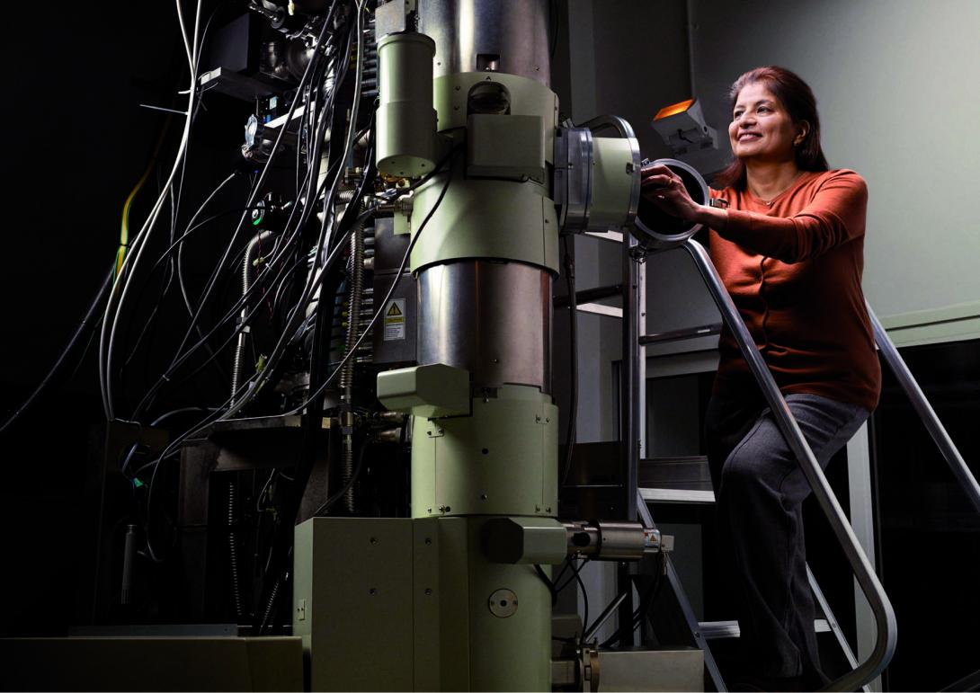 Professor Pratibha Gai, Electron Microscopy, University of York, UK. 'I saw for the first time, atoms working in chemical reactions,' explained Professor Gai, on presenting the revolutionary microscope that she created. The instrument enables researchers to observe, with the human eye, atoms in action during chemical reactions. Gai's microscope paves the way for the development of new medicines and environmentally beneficial sources of energy. Prof. Gai is the co-director of the York JEOL Nanocentre at the