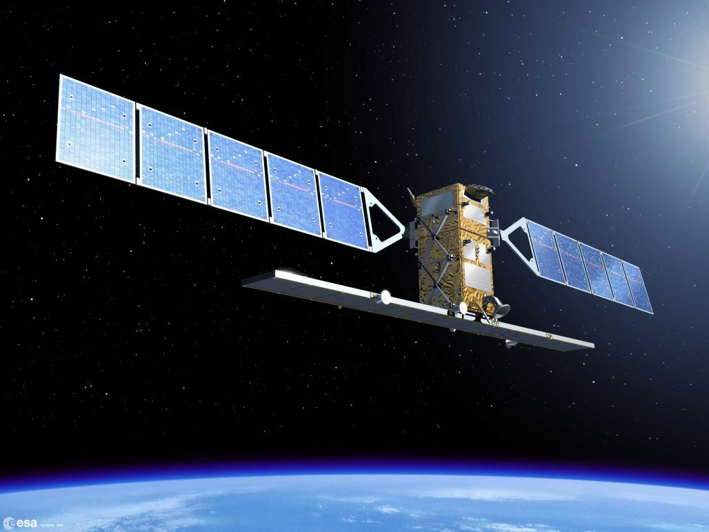 The first Sentinel-1 satellite will be ready for launch in spring 2014. It is a polar-orbiting, all-weather, day-and-night radar imaging mission for Copernicus's land and ocean services. © ESA