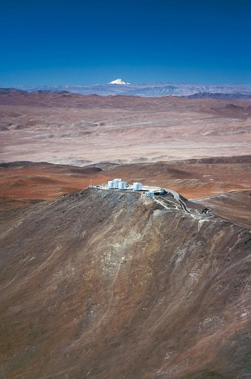 Cerro Paranal, in Chile, is home to the European Southern Observatory's Very Large Telescope (VLT). The Paranal Observatory, located at an altitude of 2 600 metres in the Atacama Desert has just celebrated its 15th anniversary. © ESO/G.Hüdepohl