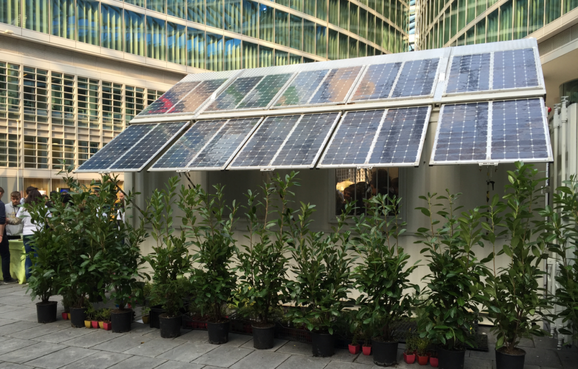 These sapling nurseries can also hit the road – they are housed inside a solar-powered shipping container so they can travel around Europe and grow trees on site. This greenhouse system uses 85 % less energy than other traditional methods and gathers much of the electricity it needs through photovoltaic panels on the roof. After receiving funding from the EU to develop the idea, the project has helped create a university spin-off to bring it to market. Image courtesy of ZEPHYR