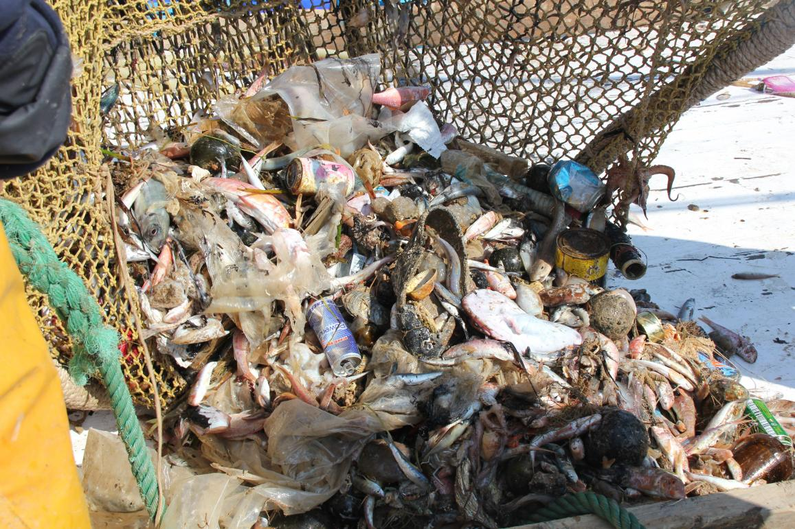 Ecoalf has started UPCYCLINGTHEOCEAN, which the EU has recently supported, to work with fishermen who have removed 20 tonnes of trash since September 2015. Every year 6 million tonnes of debris is thrown into our oceans, and it takes shopping bags and plastic bottles approximately 20 years and 450 years to degrade respectively. Image courtesy of UPCYCLINGTHEOCEAN