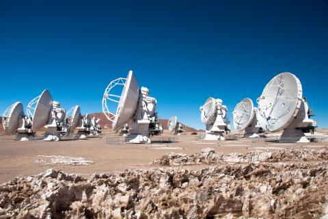 The new ALMA radio telescope is now fully operational. It has been inaugurated on 13 March 2013 in the Chilean Andes. The Atacama Large Millimeter/submillimeter Array (ALMA) is a partnership between Europe, North America and East Asia in cooperation with the Republic of Chile. ALMA is the largest ground-based astronomical observatory in existence. It is so huge that no single country could have afforded such an astronomical tool alone. © ALMA (ESO/NAOJ/NRAO)